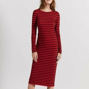 NEW Current/Elliott The Breton Stripe Midi Dress